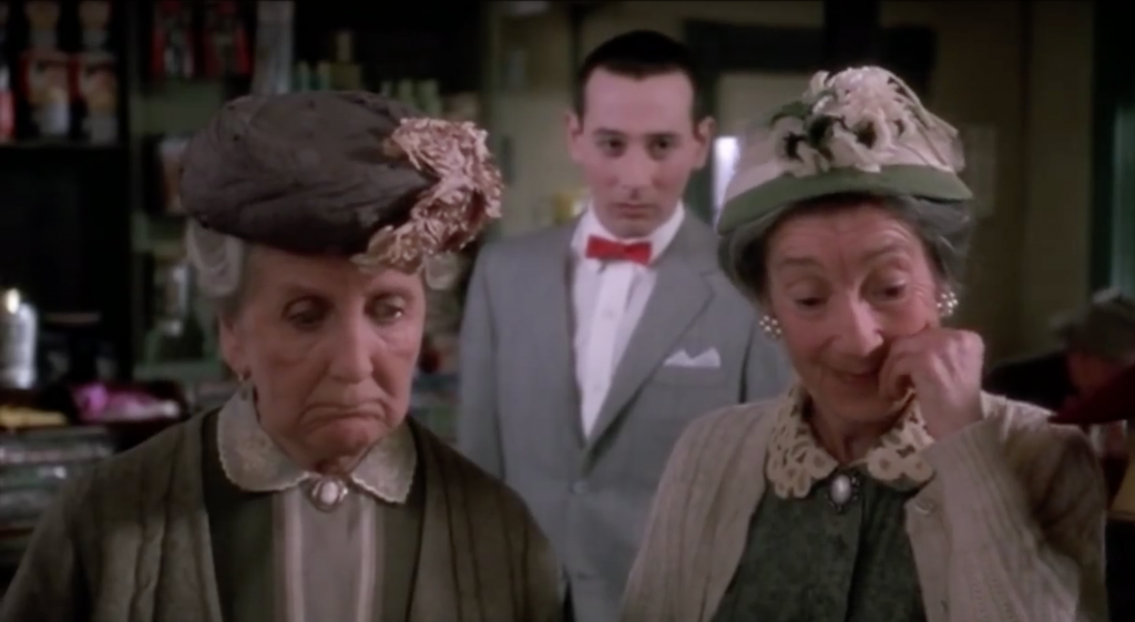 Pee-Wee knows he's hosed